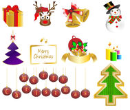Christmas background icon set  Stock Photos