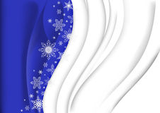 Christmas background. Illustration of abstract Christmas background in blue and white colours with snowflakes Royalty Free Stock Image