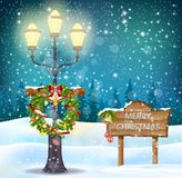 Christmas background. Illustration Christmas background with bells Royalty Free Stock Image