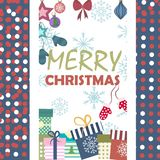 Christmas background,  illustration. Christmas card with New Year`s attributes Stock Images