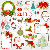 Christmas background. Illustration drawing of floral christmas background Stock Photos