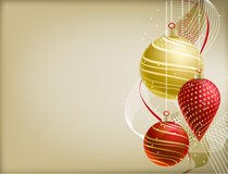 Christmas Background. Christmas illustration. Horizontal background with christmas balls royalty free stock images