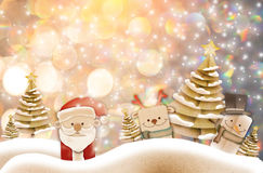 Christmas background illustration of funny santa claus and red n Royalty Free Stock Images