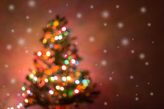 Christmas background, image blur bokeh defocused lights Royalty Free Stock Photos