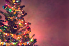 Christmas background, image blur bokeh defocused lights Royalty Free Stock Photography
