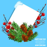 Christmas background image. Card merry christmas and new year design isolated vector illustration