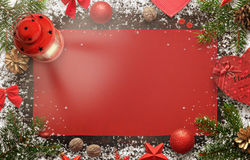 Christmas background image for greeting text with christmas decorations Royalty Free Stock Photo
