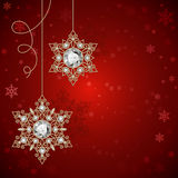Christmas background with jewelry snowflakes Stock Photo