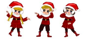 Christmas kids cartoon Stock Image