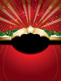 Christmas background with label Stock Image