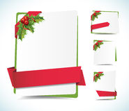 Christmas Background Labels Stock Images
