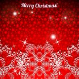 Christmas background. With large snowflakes at the bottom. Vector illustration Royalty Free Stock Photography