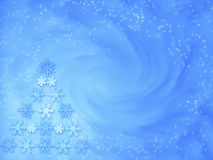 Christmas background - Let it snow. Background with Christmas tree made of snowflakes stock illustration