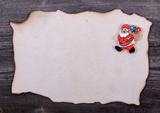 Christmas background - Letter for Santa Claus Royalty Free Stock Photography