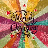 Christmas background with lettering. Abstract vector background Stock Photos