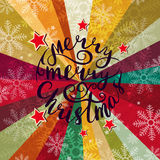 Christmas background with lettering. Abstract vector background Royalty Free Stock Images