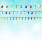 Christmas background with light bulbs Royalty Free Stock Photography