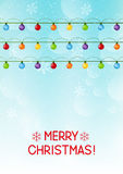 Christmas background with light bulbs Stock Photography