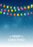 Christmas background with light bulbs Royalty Free Stock Photo