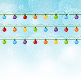 Christmas background with light bulbs Royalty Free Stock Image