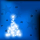 Christmas background light cards Stock Image