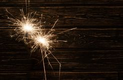 Christmas background with light fire. stock image