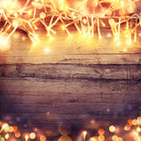 Christmas background with light garland Royalty Free Stock Image