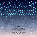 Christmas background with light lamps garlands Stock Images