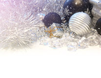 Christmas background with light leak Royalty Free Stock Photo