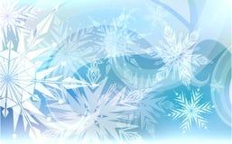 Christmas background light snowflakes. Beautiful Christmas blue background with light snowflakes Stock Photos