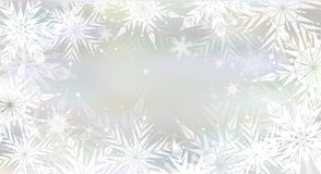 Christmas background with light snowflakes Stock Photography