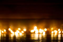 Christmas background with light spots and bokeh. Royalty Free Stock Images