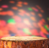 Christmas background light wooden trunk projects space text prod Royalty Free Stock Photography