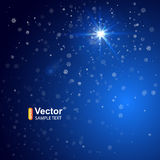 Christmas Background, Lights on blue background. Christmas Background, Lights on blue background and vector illustration Royalty Free Stock Photos