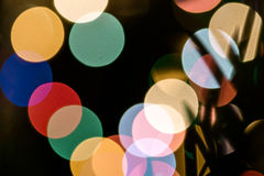 Christmas background with lights and blurred bokeh background. Stock Photography