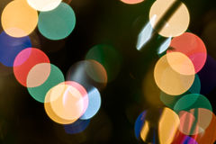 Christmas background with lights and blurred bokeh background. Stock Images