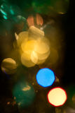 Christmas background with lights and blurred bokeh background. Royalty Free Stock Images