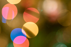 Christmas background with lights and blurred bokeh background. Royalty Free Stock Photo
