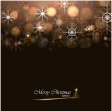 Christmas background with lights and snowflakes. Vector illustration Stock Photography