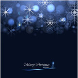 Christmas background with lights and snowflakes. Vector illustration Royalty Free Stock Photos