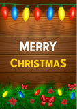 Christmas background with lights Royalty Free Stock Image