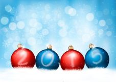 Christmas background with a 2015 made out of baubles. Vector stock illustration