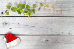 Christmas background made of rustic wooden background Stock Photos