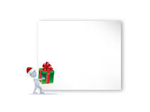 Christmas background. With man figure Stock Image