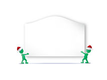 Christmas background. With man figures Stock Photo
