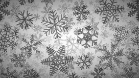 Background of many layers of snowflakes. Christmas background of many layers of snowflakes of different shapes, sizes and transparency. Black on white vector illustration