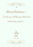 Christmas background Merry Christmas  illustration Stock Image