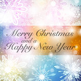 Christmas Background. A merry christmas festive snowflake winter background with snow and colour royalty free illustration