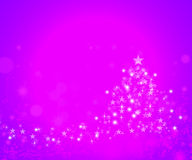 Christmas background. Merry Christmas pink background with stars royalty free stock images