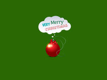 Christmas background. With Merry Christmas wishes Royalty Free Stock Photos